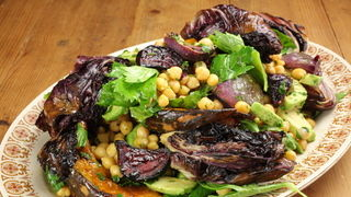 Cheat's Chickpea, Pumpkin and Roasted Onion Salad