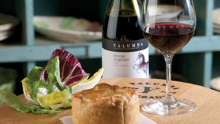 Barossa Chook and Mushroom Pie with Salad Greens and Barossa Tomato Sauce